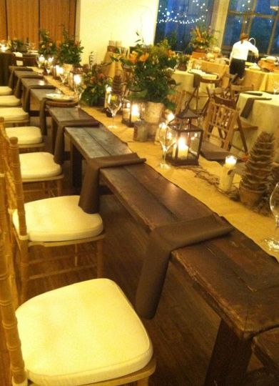 Rustic long table setup