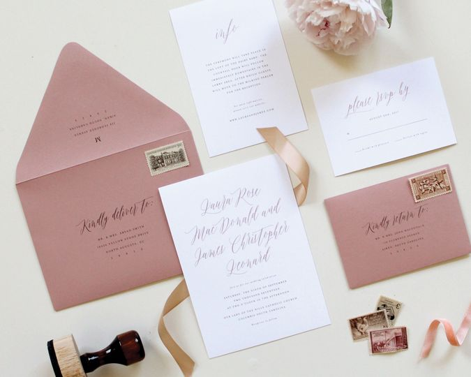 simple calligraphy wedding invitation 51 519986