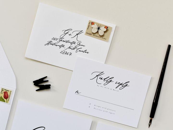Tmx Calligraphy Whimsical Rsvp2 Edit 51 519986 Fort Mill, SC wedding invitation