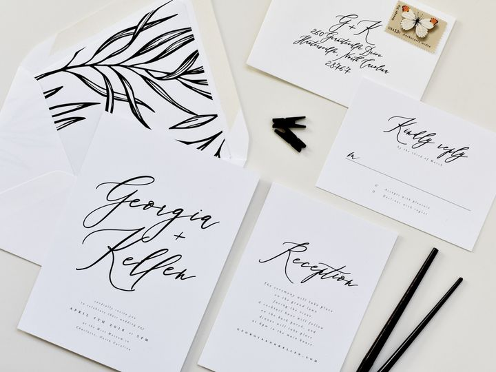 Tmx Calligraphy Whimsical Suite Liner6 Edit 51 519986 Fort Mill, SC wedding invitation