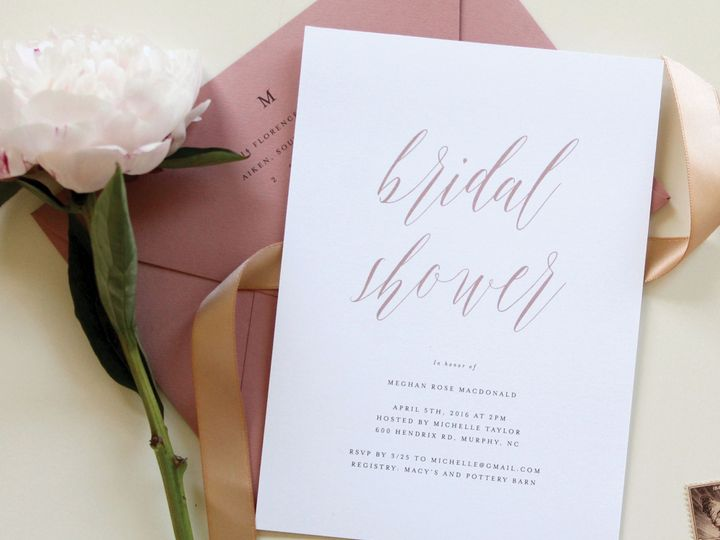 Tmx Romantic Mauve Bridal Shower Invitation 51 519986 Fort Mill, SC wedding invitation