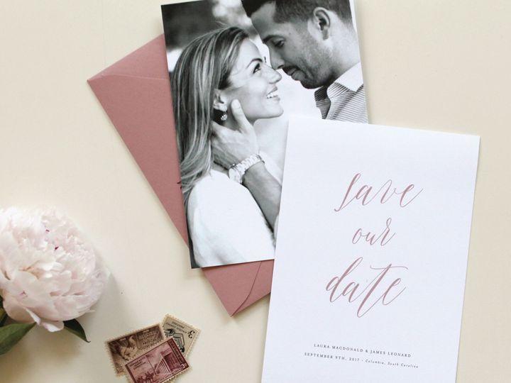 Tmx Romantic Mauve Photo Save The Date Card 51 519986 Fort Mill, SC wedding invitation