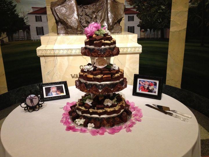 Tmx 1372195542505 Brownie Wedding Cake Burke wedding catering