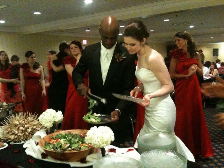 Tmx 1372195913676 Bride Groom Red White Black Burke wedding catering