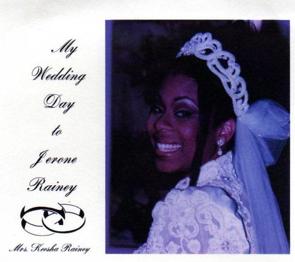 DVD Cover Label   My Wedding Day to Jerome Rainey                Mrs. Keesha Rainey