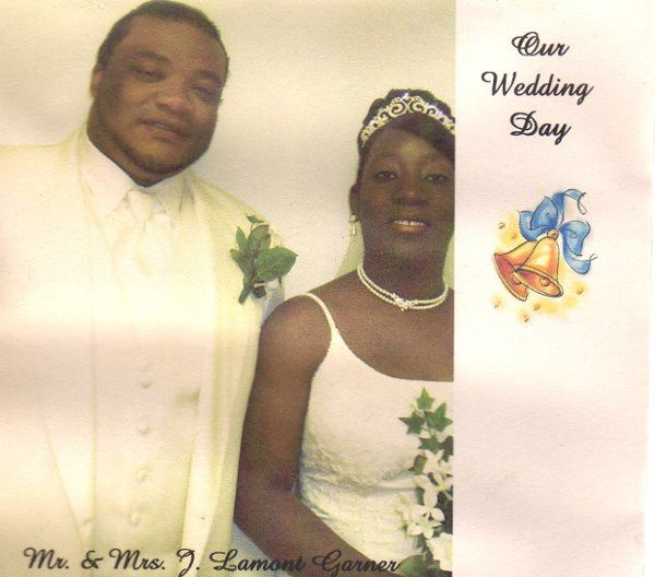 "DVD Cover Mr. & Mrs. L Lamont Garner    ""Our Wedding Day"""