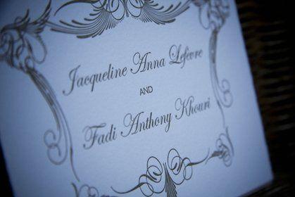 Letterpress Wedding Invitation.