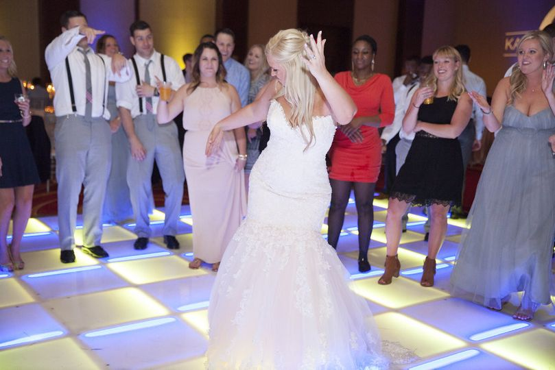 Bride hitting the dance floor