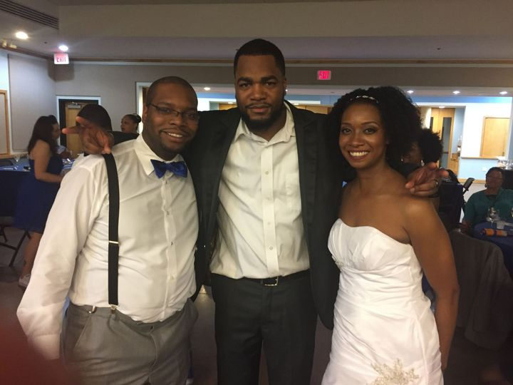 With the newlyweds, Mr & Mrs Williams