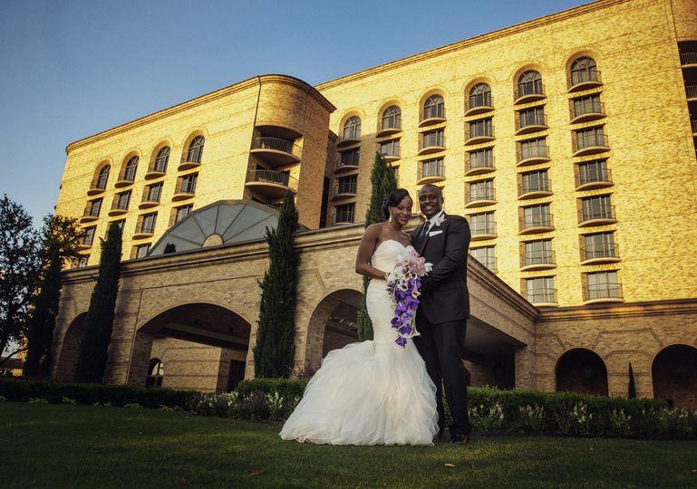 Elegant Nuptials Couple's formal photos at reception venue - Four Seasons Resort, Las Colinas,...