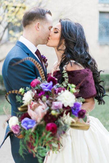 Elegant Nuptials Couple's fall wedding photos