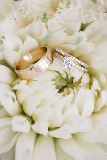 Elegant Nuptials Couple's classic wedding bands