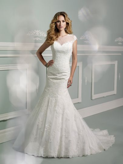 Fitted lace gown from James Clifford Collection at Bella Amore Bridals in Shreveport, Bossier City.