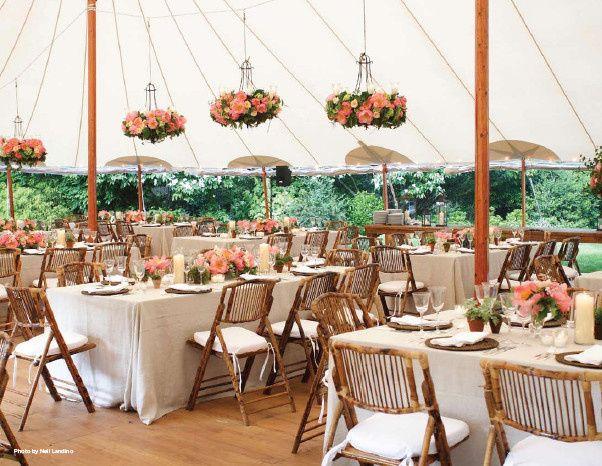 Reception tent setup and design