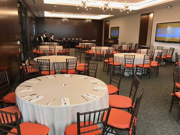 Orange reception set-up