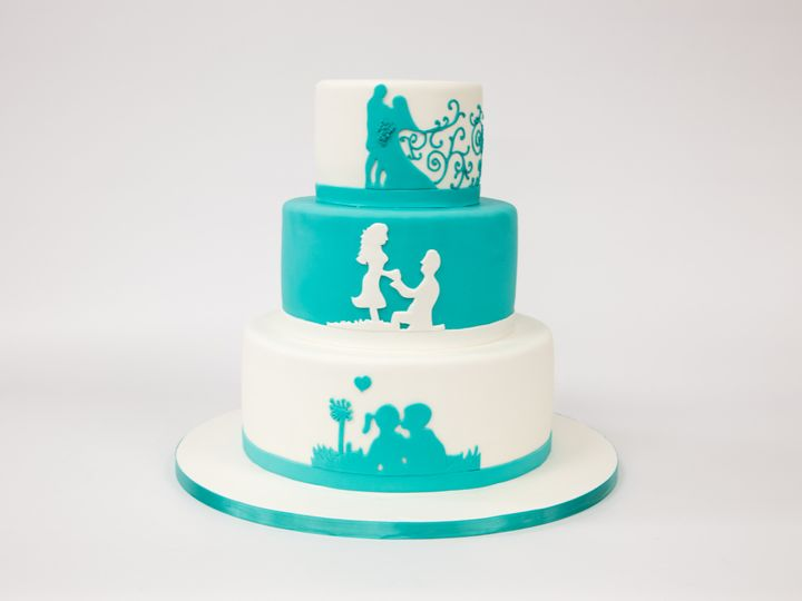 Tmx 1415998352209 W542 Hoboken wedding cake