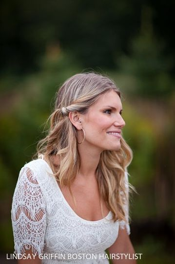 Boston wedding hairstylist, Boston wedding photographer, Lindsay Griffin, Heather Parker Photography