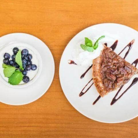 Honey Buttermilk Cheesecake and Brown Butter Pecan Pie