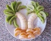 Hawaiian fruit plate.