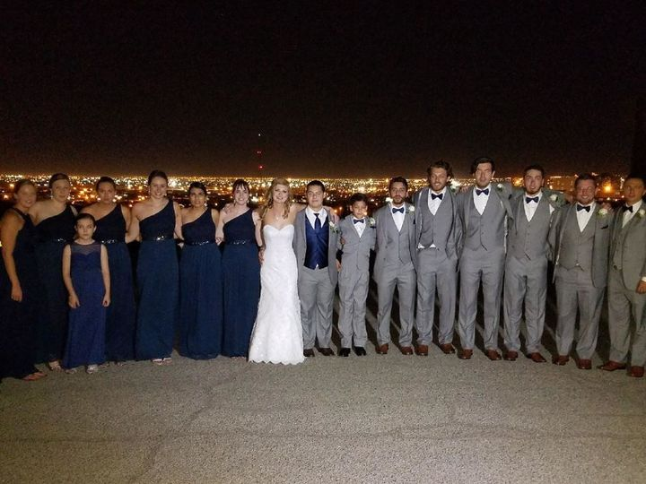 Bride and groom with friends