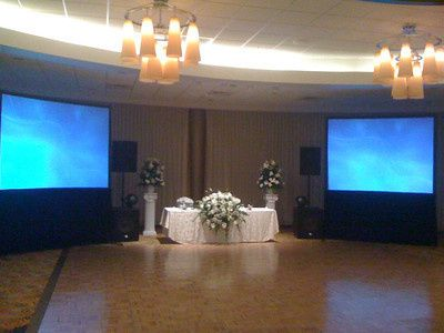 Head table and screen projections