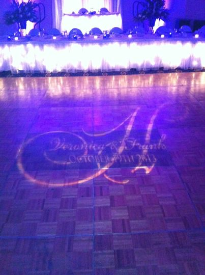 Monogram floor projection