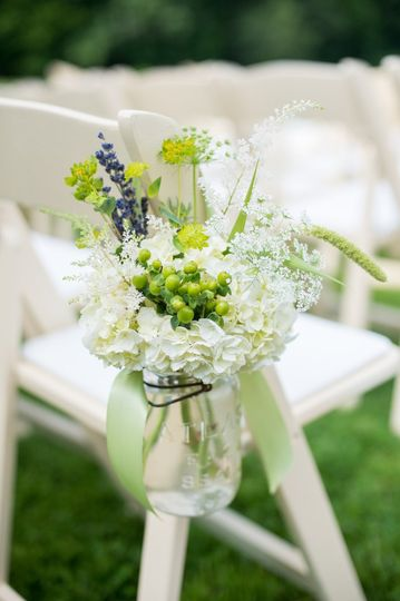 Wedding chair floral decorations
