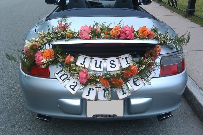 Just married floral decor