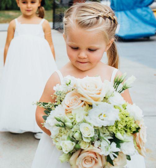Flower girl's bouquet