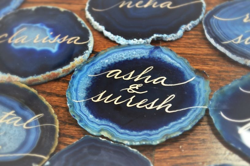 blue agate stone agate stone hand lettering callig