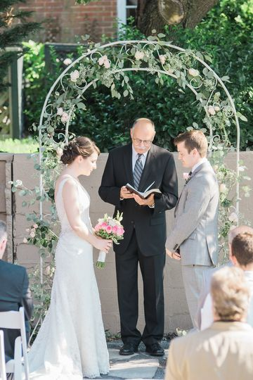 A lower garden ceremony