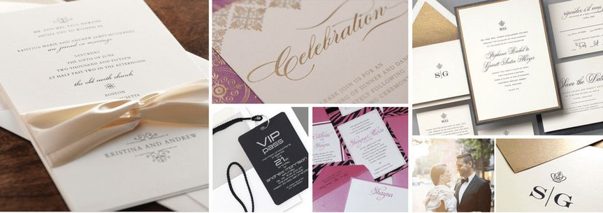 Elegant invitations for your wedding day from simple and elegant to embellished and royal