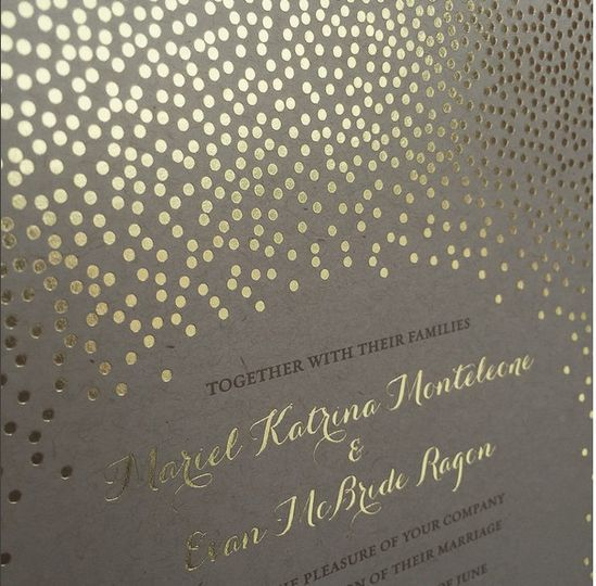 Brown and Gold Foil