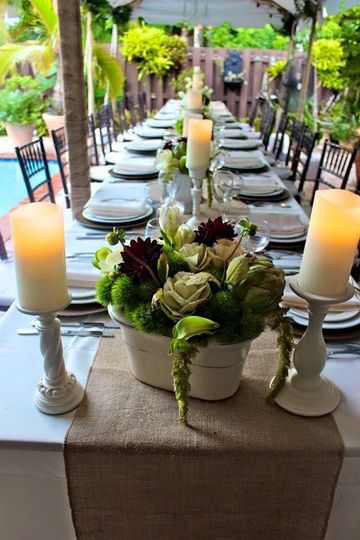 Candles and centerpieces