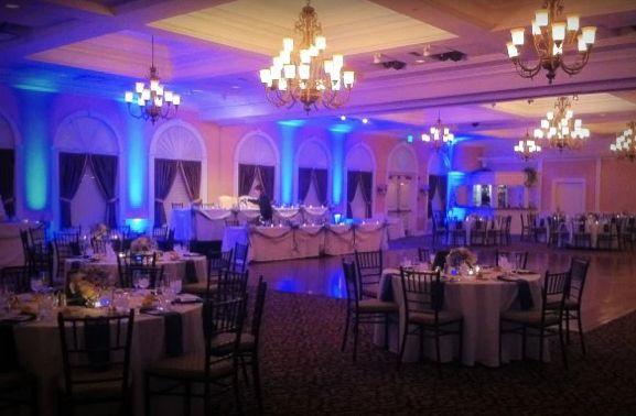 Uplighting at the wedding reception