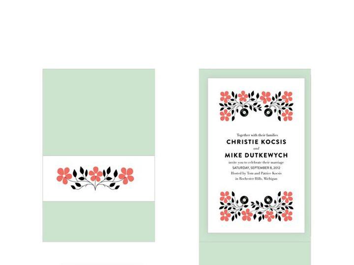 Tmx 1353468459229 Christieandmike1 Warren wedding invitation