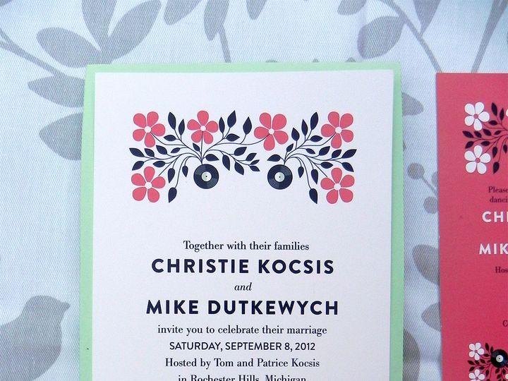 Tmx 1496247453583 Christie And Mike 05 Warren wedding invitation