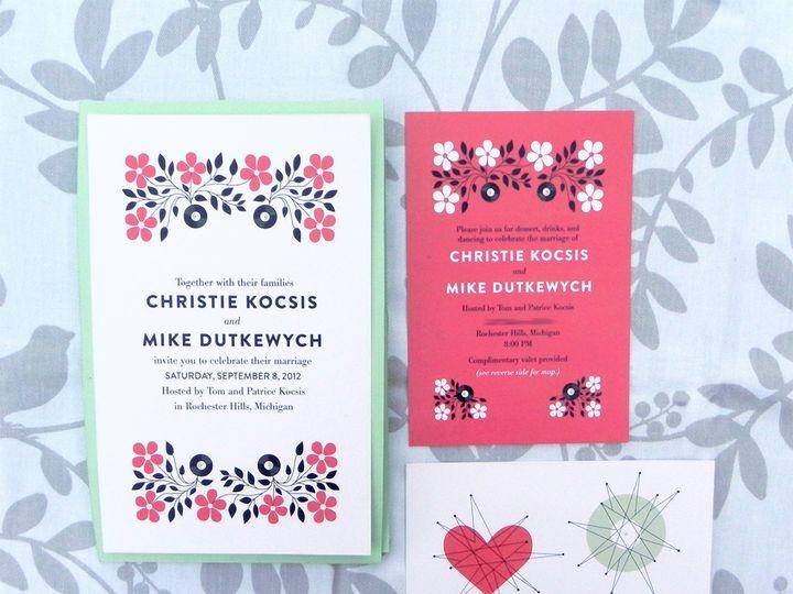 Tmx 1496247463845 Christie And Mike 07 Warren wedding invitation