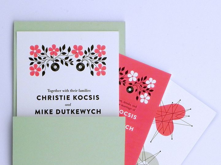 Tmx 1496247479399 Christie And Mike 01 Warren wedding invitation
