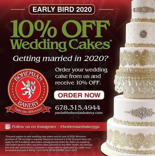 early bird 10 off wedding cakes fb ad 51 970296 1569088847