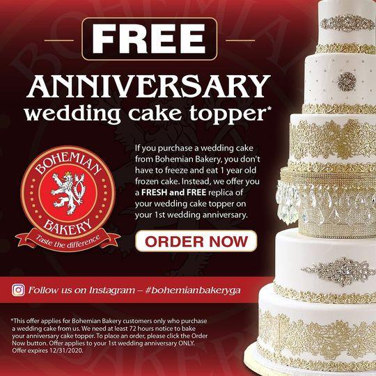 FREE 1st Anniversary Cake