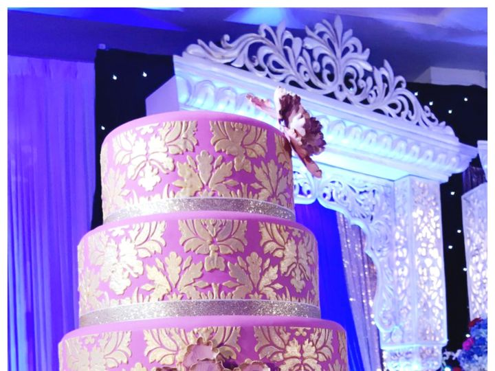 Tmx 1497444416165 Gold Damask Cake Buford, Georgia wedding cake