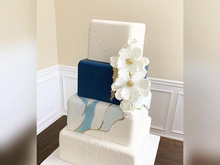 Tmx Navy Blue Marbled Cake 51 970296 1558994542 Buford, Georgia wedding cake