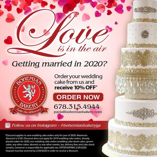 10% OFF Wedding cakes