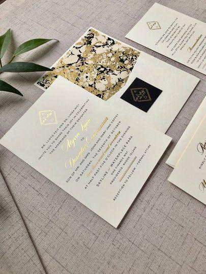 Foil Stamped Invitation Suite
