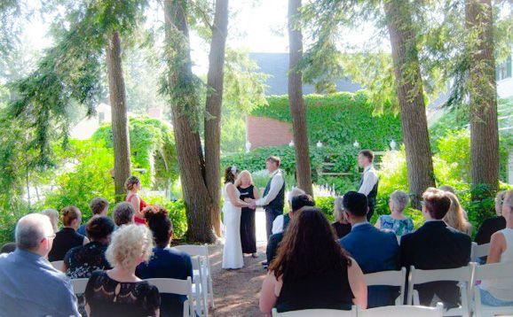 Ceremony in Aldrich Garden