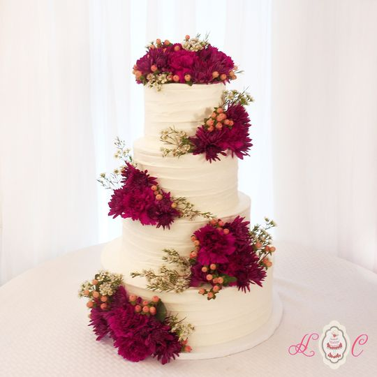 800x800 1475071611489 four tier rustic buttercream with fresh magenta fl