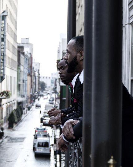 Men by the window