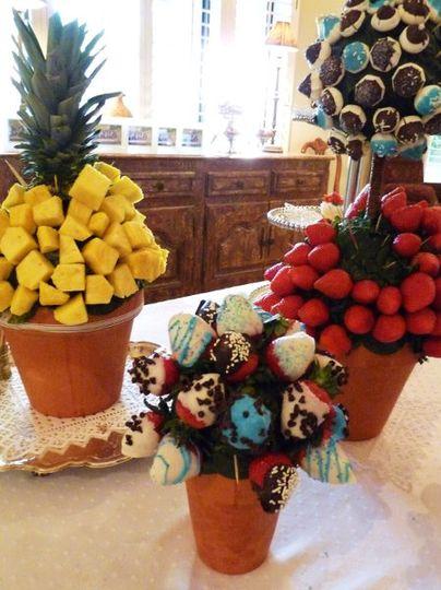 Custom food topiary designs