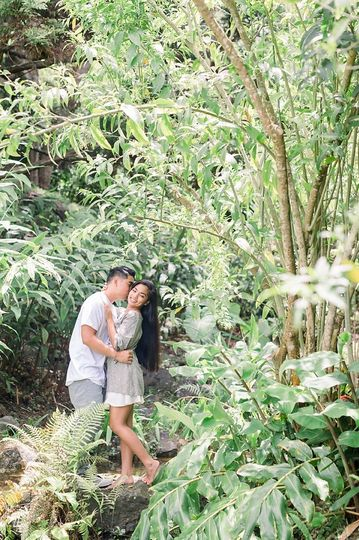 Couple in paradise